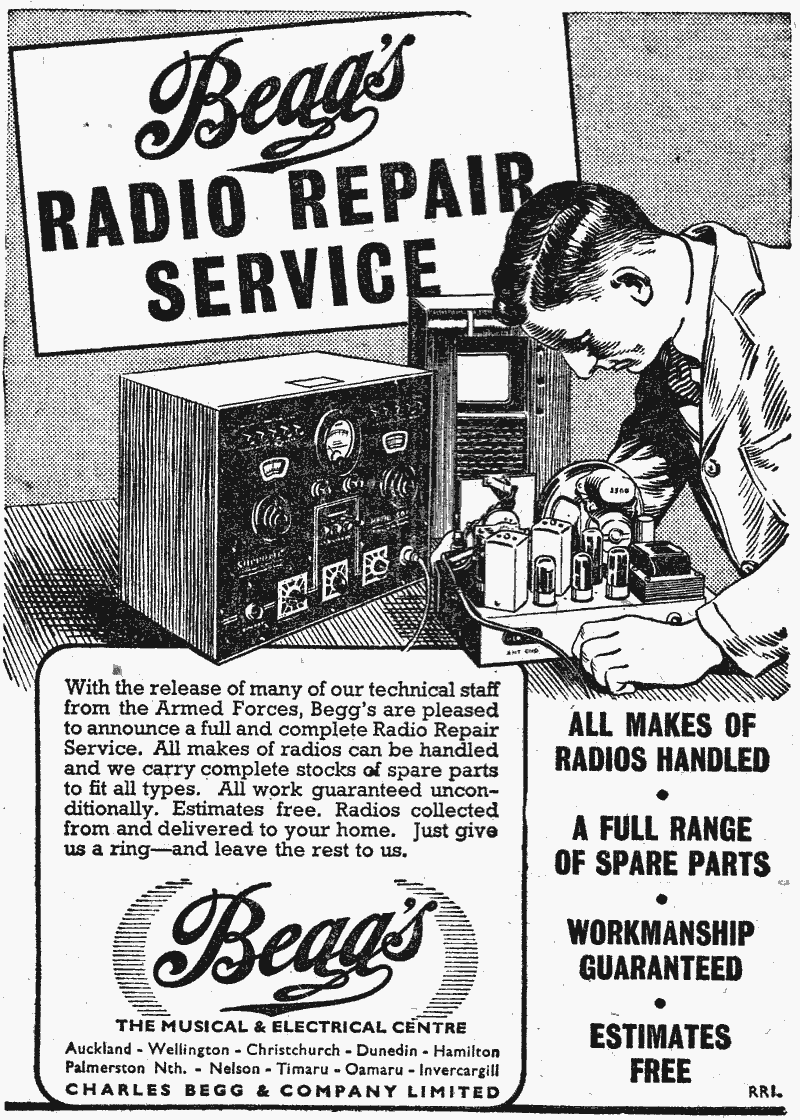 Chas Begg Radio Repair Service