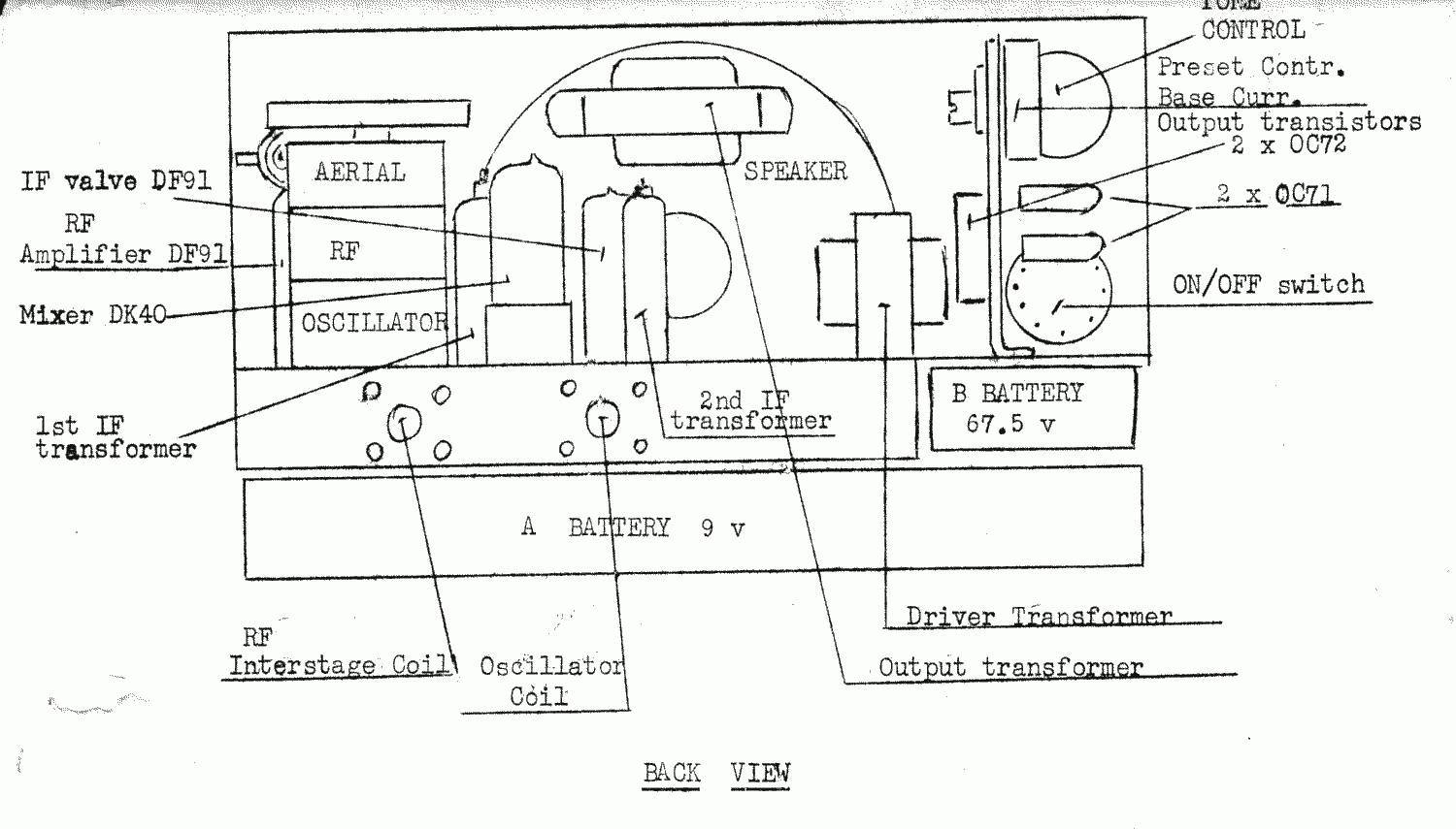 1957 Bell 34P7 Chassis Layout