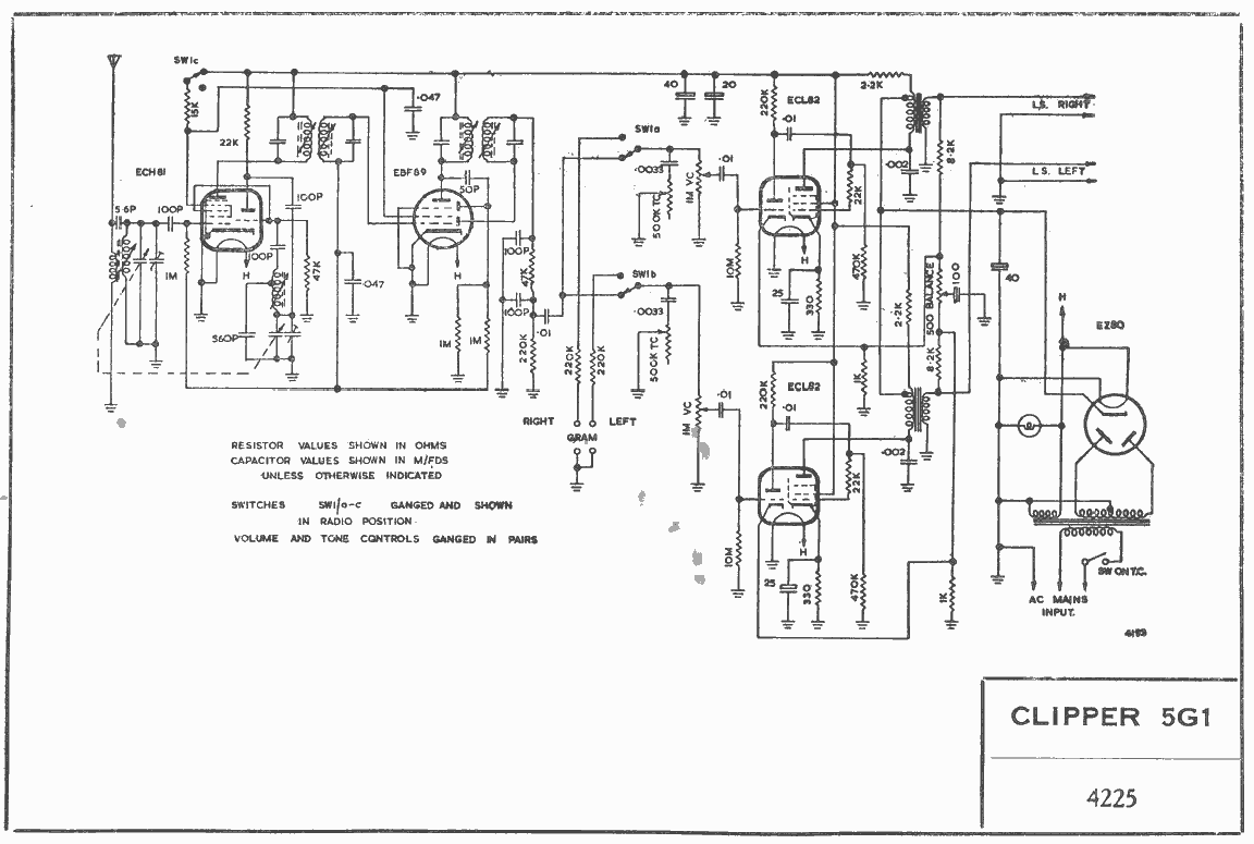 1961 Clipper 5G1 Schematic