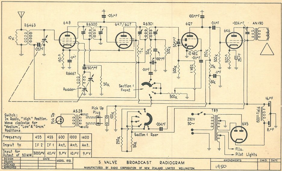 1949 Columbus model 19R Schematic