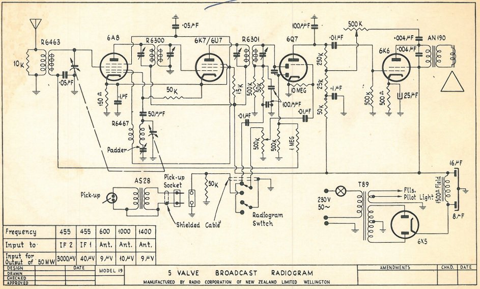 1949 Columbus model 19 Schematic