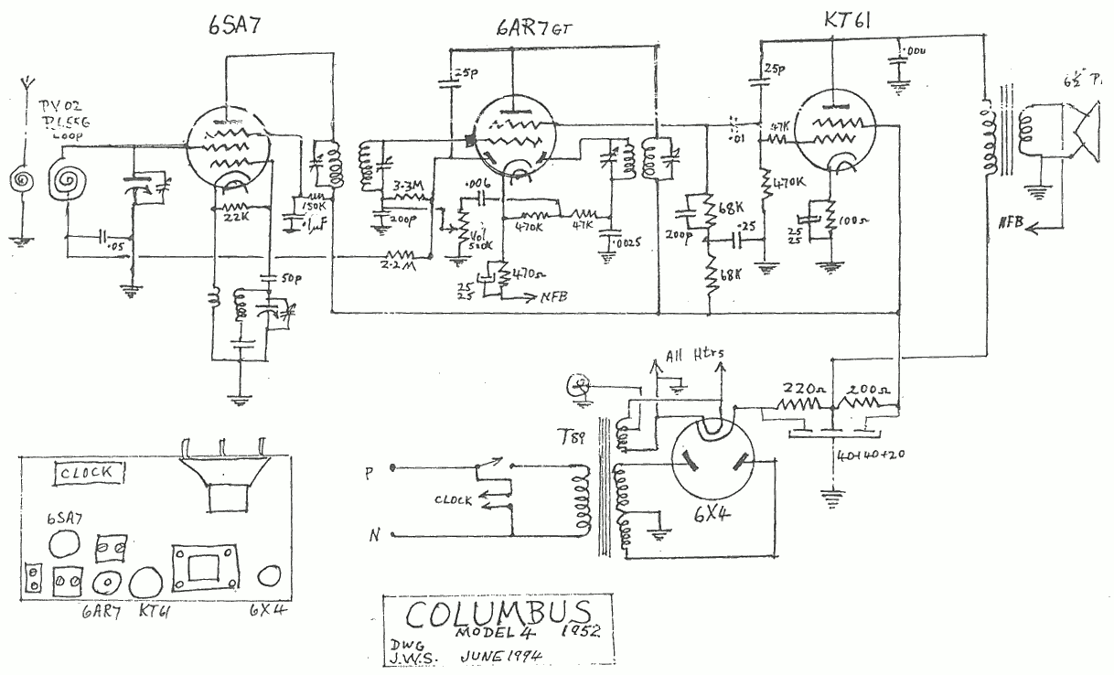 1952 Columbus model 4 schematic