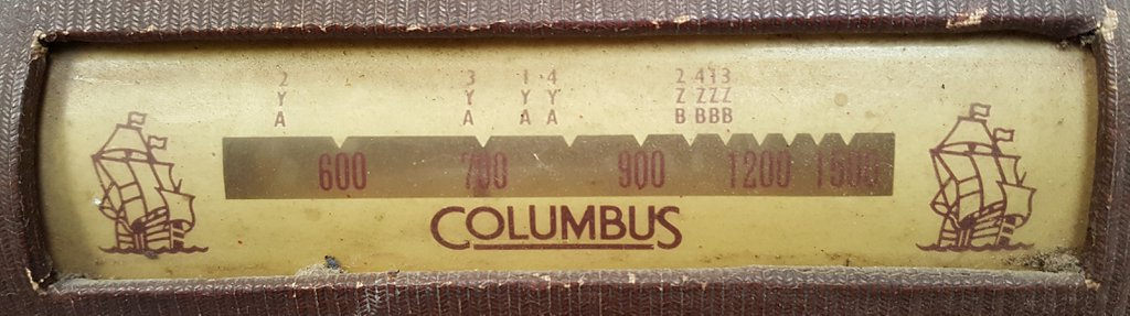 NZ Vintage Radio - 1948 Columbus 402Z
