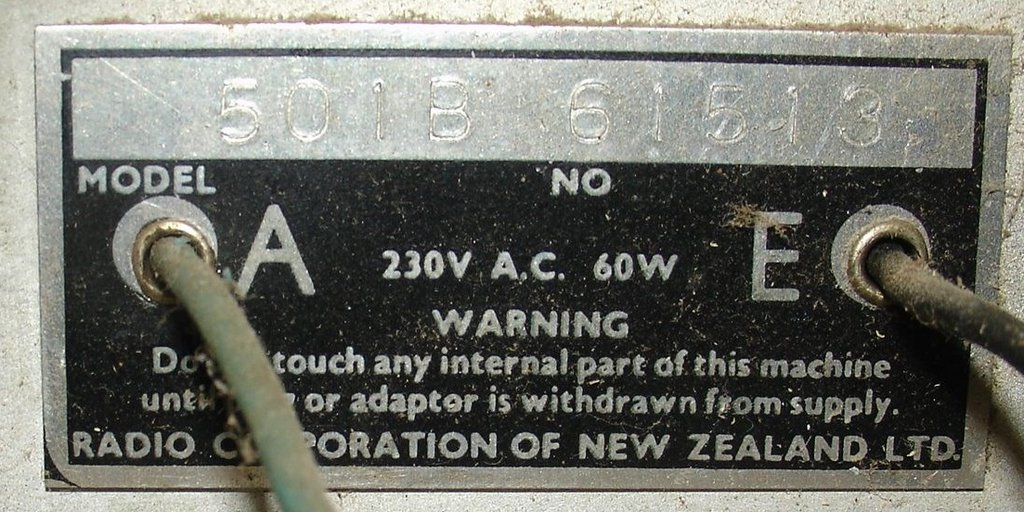 NZ Vintage Radio - 1956 Columbus model 501
