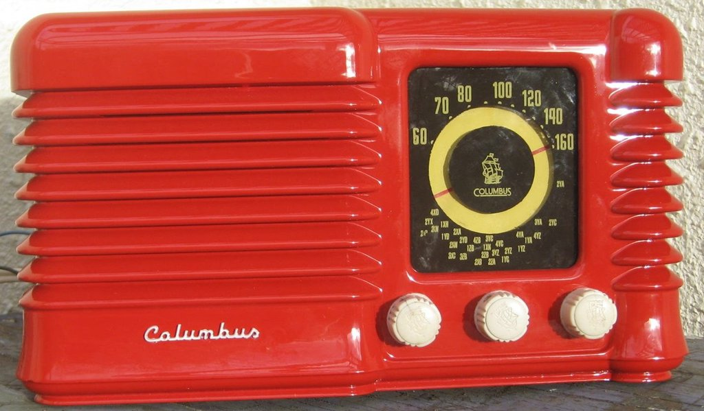 NZ Vintage Radio - 1955 Columbus model 504 Front