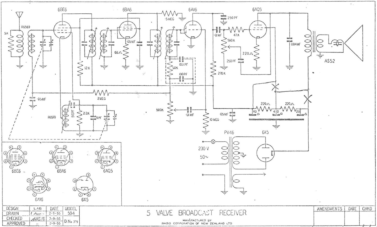 1955 Columbus model 504 Schematic