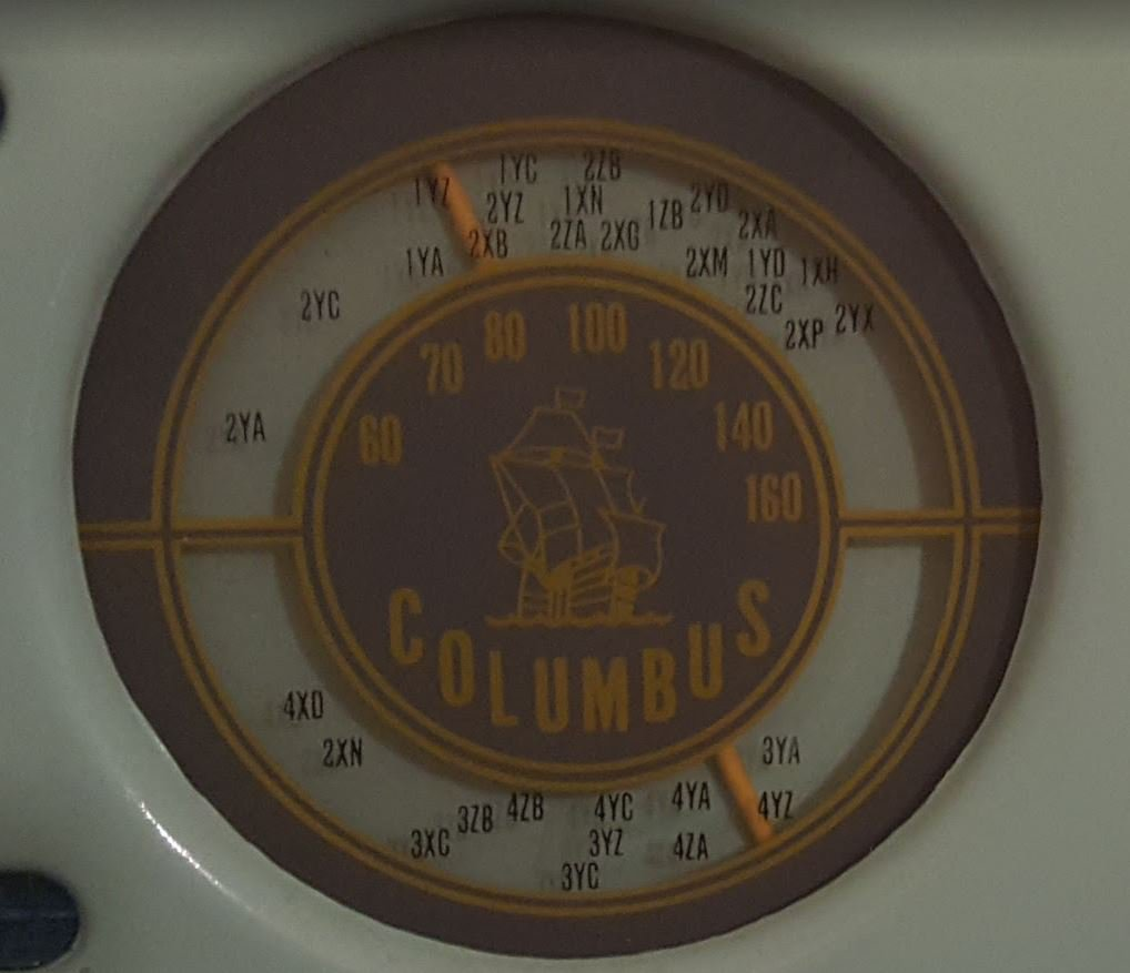 NZ Vintage Radio - 1958 Columbus model 515 'Challenger' Dial (Updated dial)