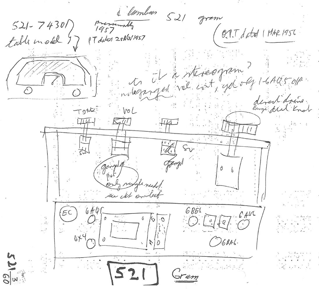 1956 Columbus model 521 Chassis Notes