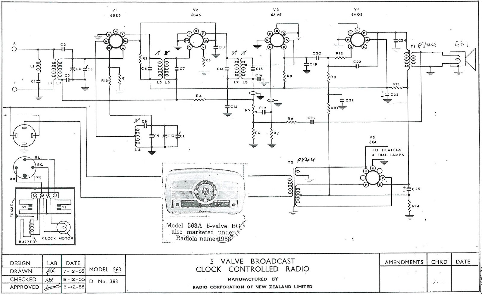 1955 Columbus model 563 Schematic