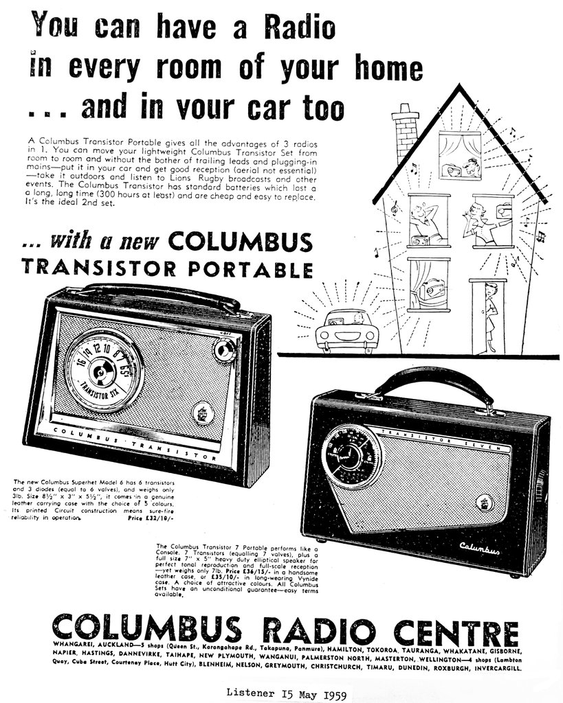 NZ Vintage Radio - 1959 Columbus 694P