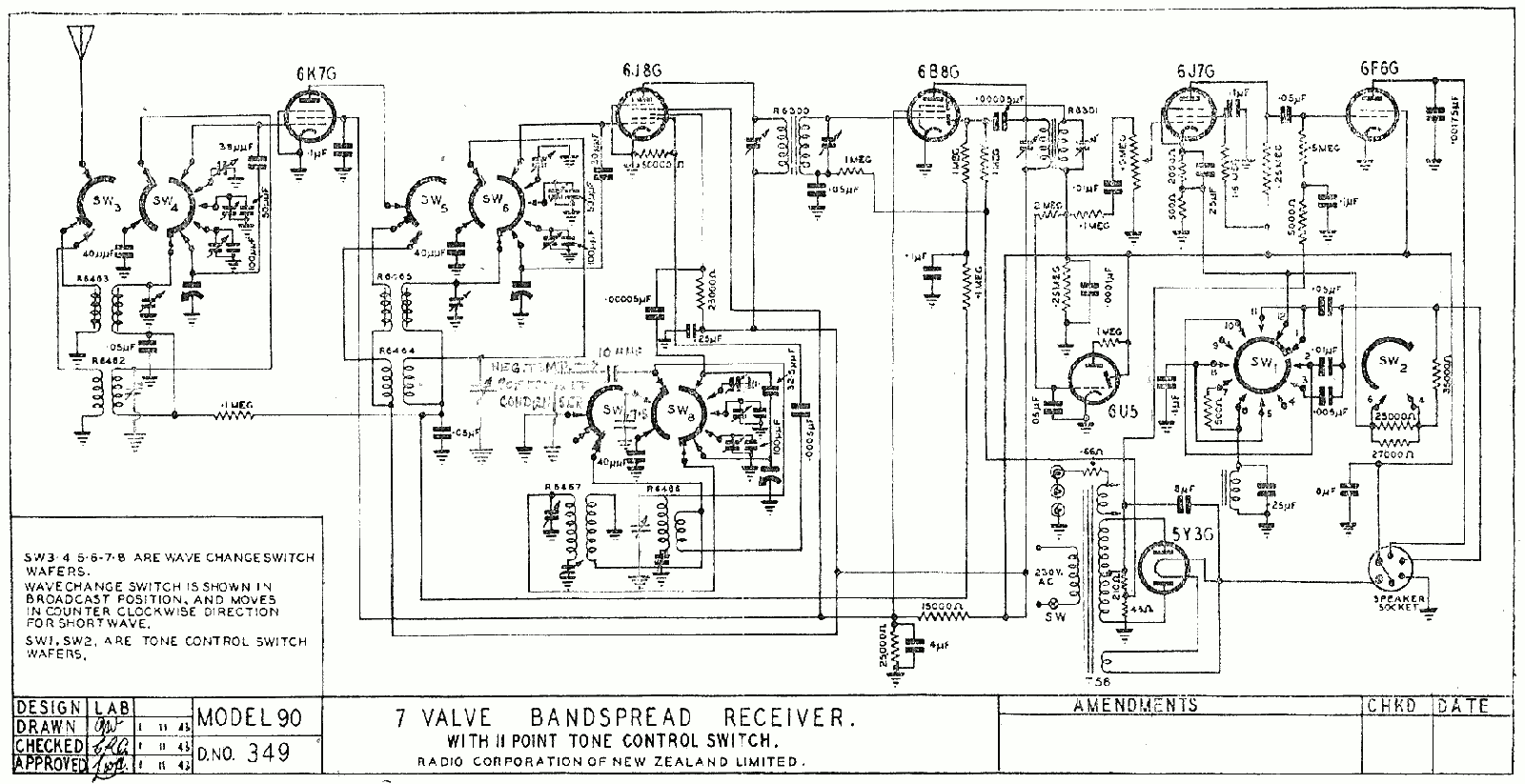 1942 Columbus model 90 schematic