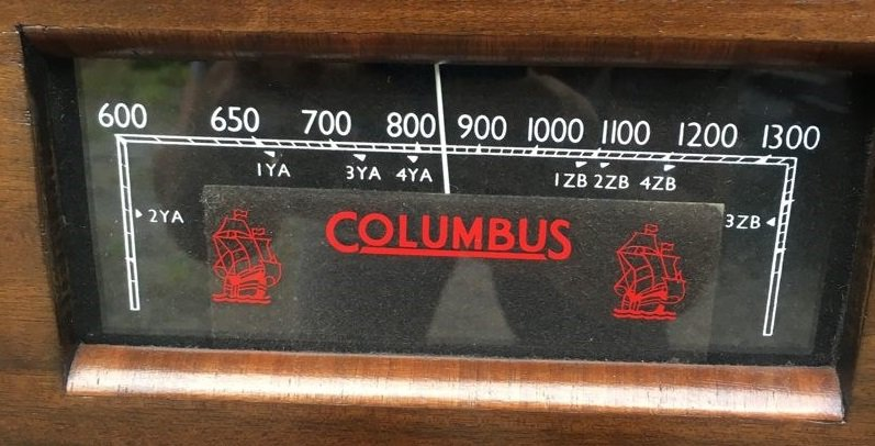 NZ Vintage Radio - 1939 Columbus model 94