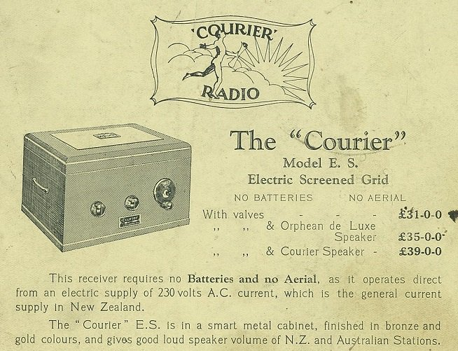 1930 Courier ES 'Electric Screen-Grid'