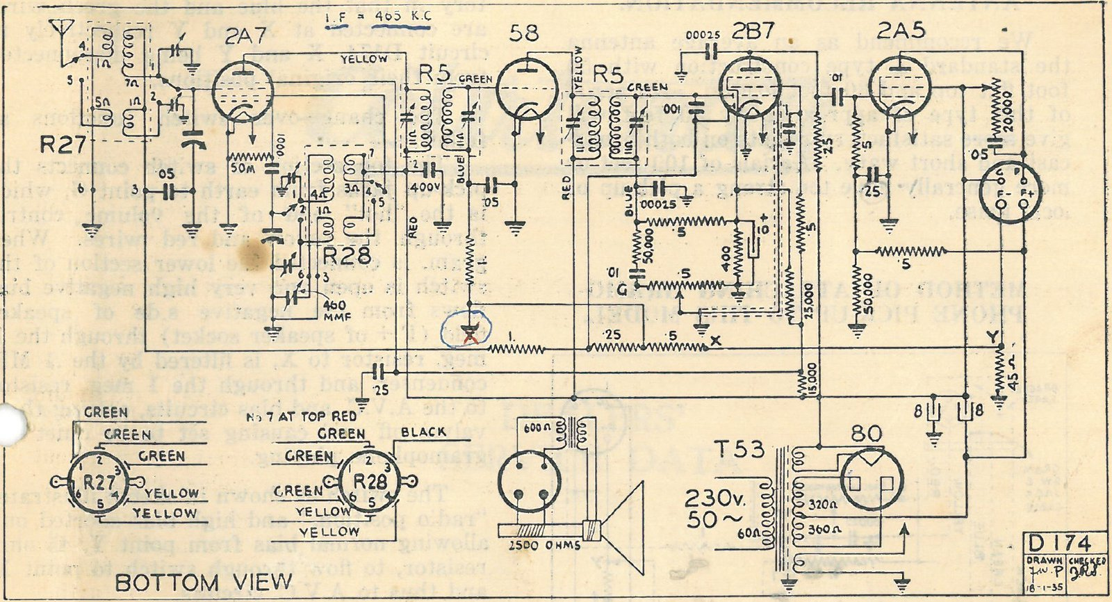 1934 Courtenay model 109 schematic