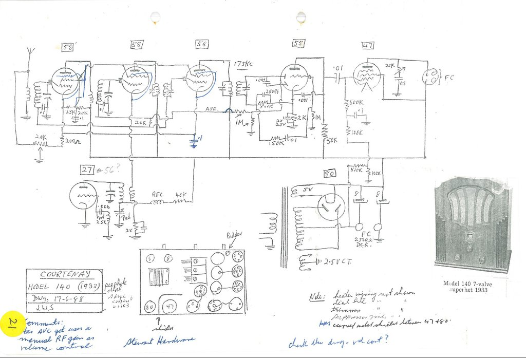 Courtenay Model 140 Schematic