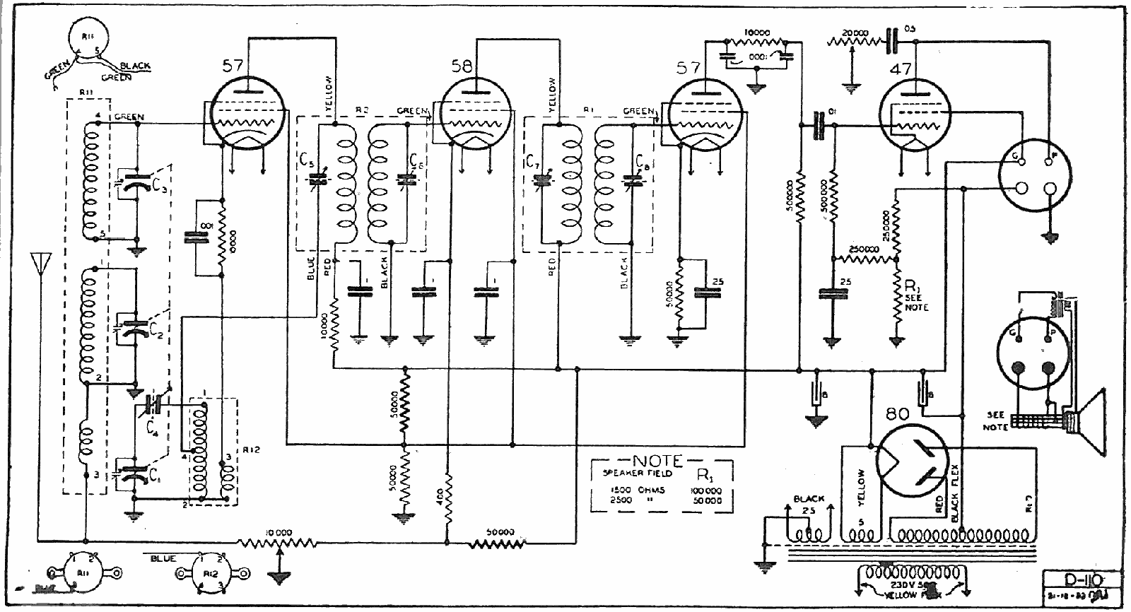 1932 Courtenay 5C and 103 Schematic