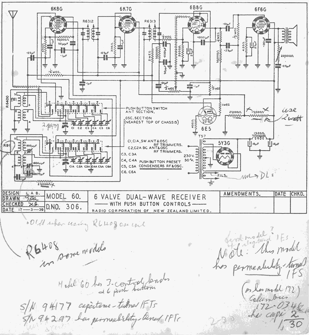 1939 Courtenay model 60 Schematic