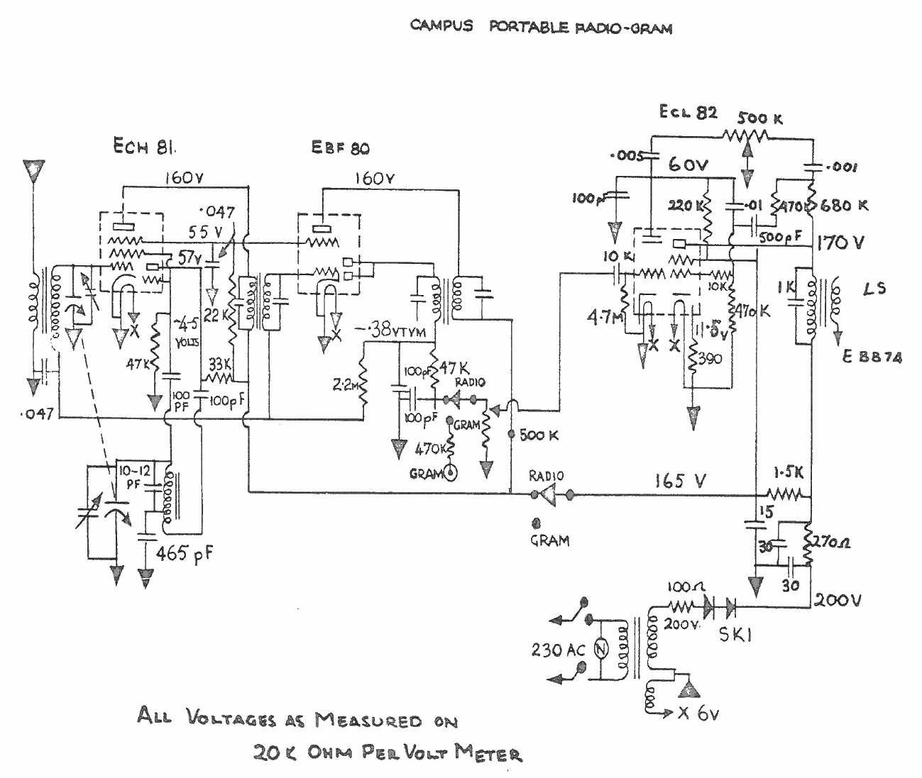 1962 Dreco Campus Schematic