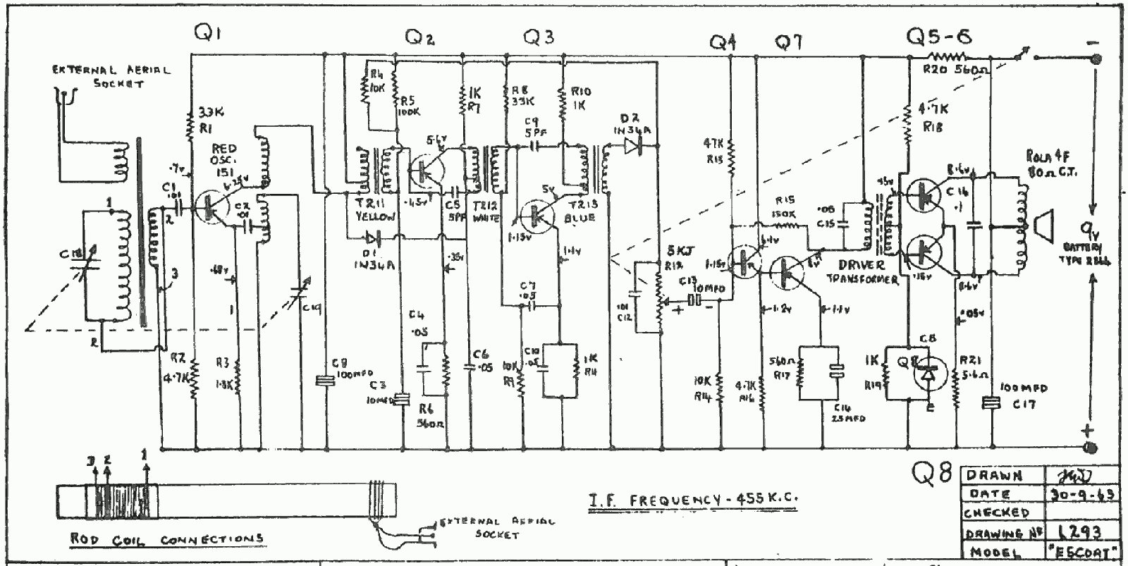1963 Dreco Escort Schematic