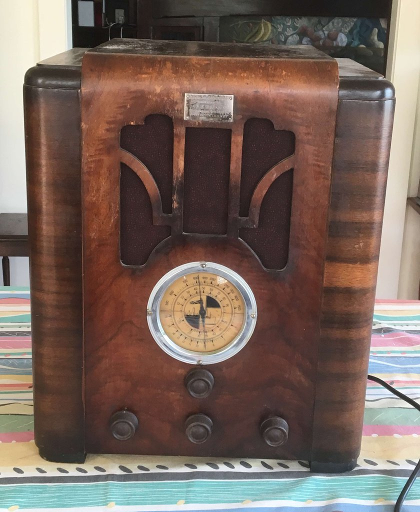 NZ Vintage Radio - 1936 Exelrad Air King dual wave