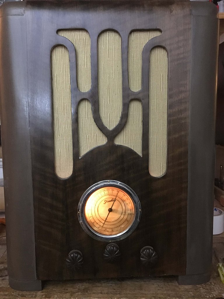 NZ Vintage Radio - 1936 Fisher 6-valve dual wave