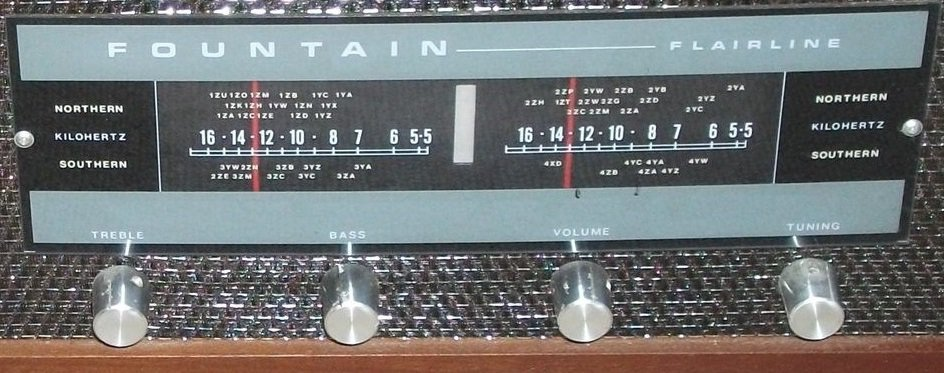 NZ Vintage Radio - 1971 Fountain Flairline 2