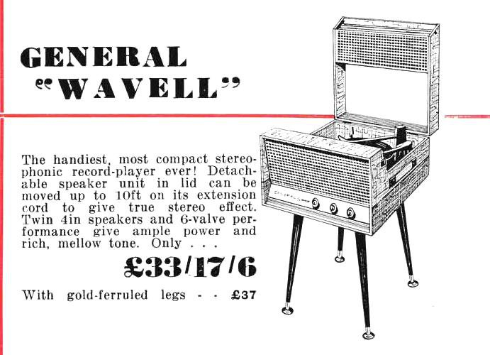General Wavell Record Player