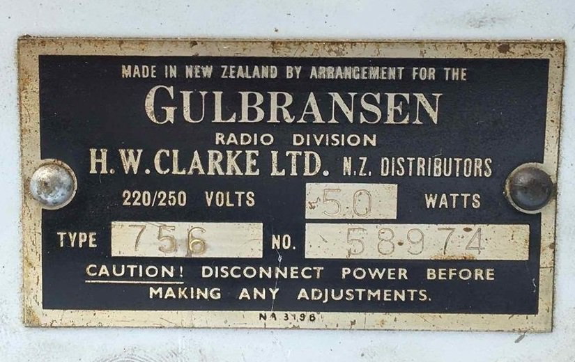 NZ Vintage Radio - 1946 Gulbransen model 756