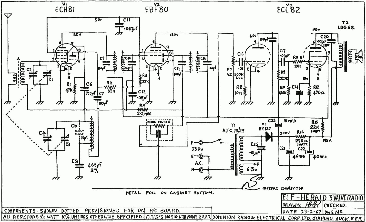 1967 La Gloria Elf Schematic