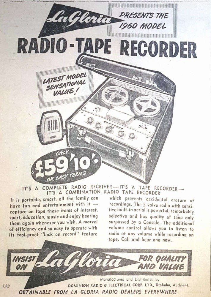 1960 La Gloria Radio-Tape-60