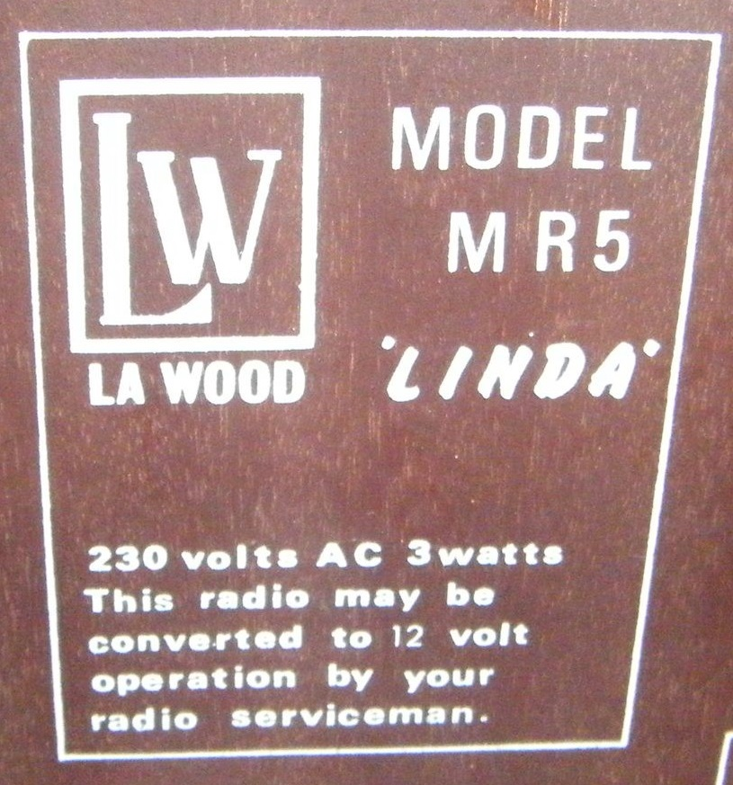 NZ Vintage Radio - La Wood MR5
