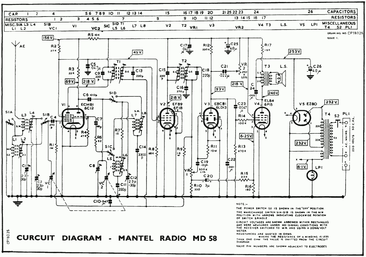 1963 Murphy MD58 Schematic