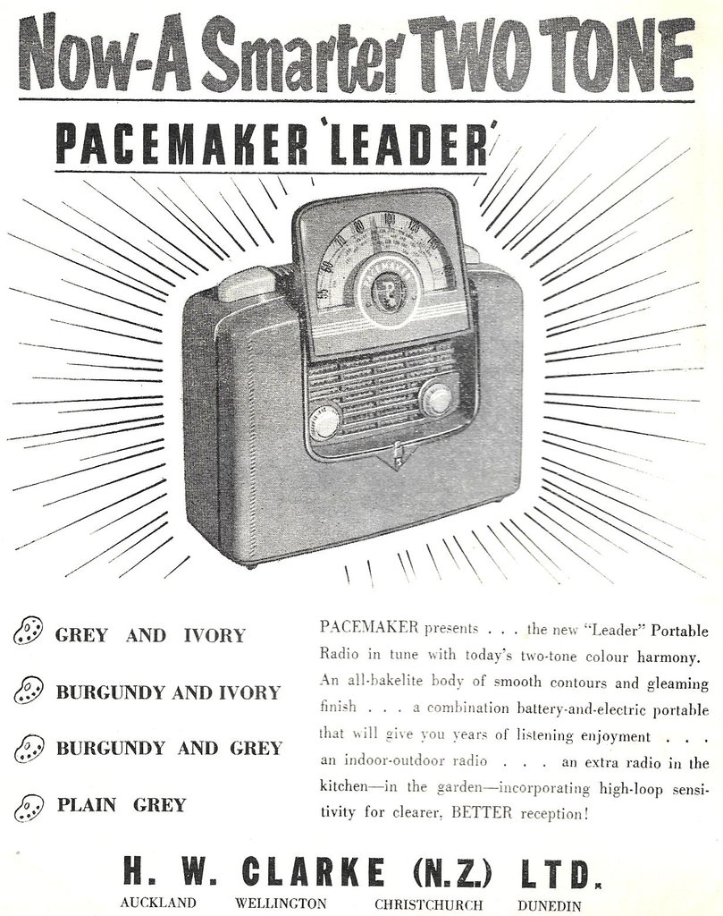 Pacemaker Leader 5153AB advert, Radio and Electronics March 1954