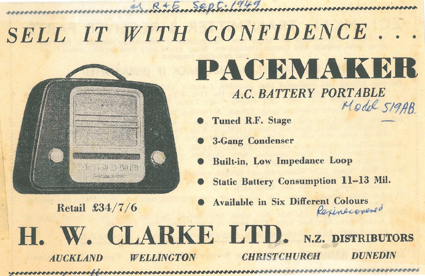 Pacemaker 519AB Radio and Electronics September 1949