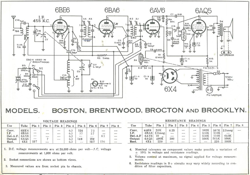 Pacemaker Boston, Brentwood, Brocton and Brooklyn Schematic
