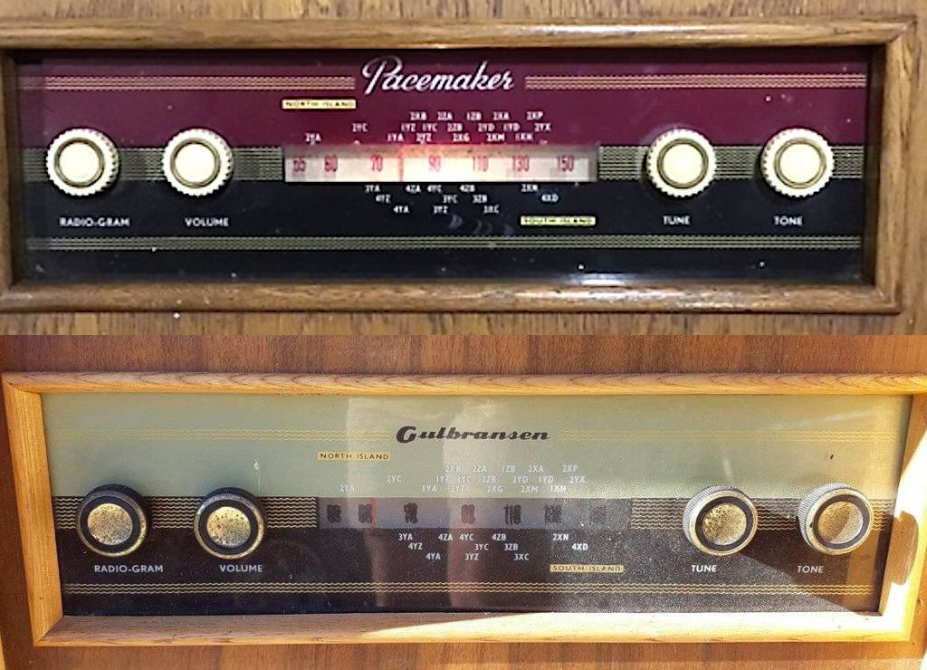 NZ Vintage Radio - 1958 Pacemaker Bristol Dial - Gulbransen shown for text clarity