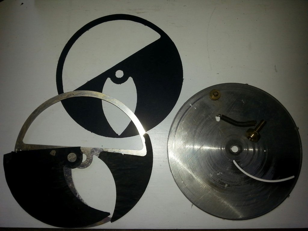 Radio Corp NZ model 38 spiral dial assembly disassembled