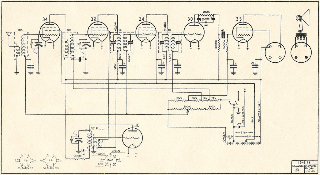 Pacific - Courtenay model 6BS Schematic
