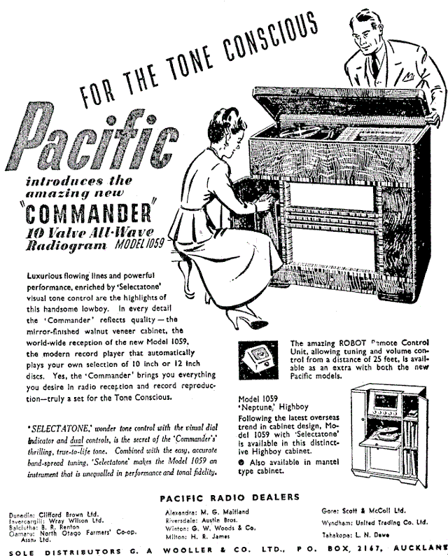 1949 Pacific (Post-WWII) model 1059