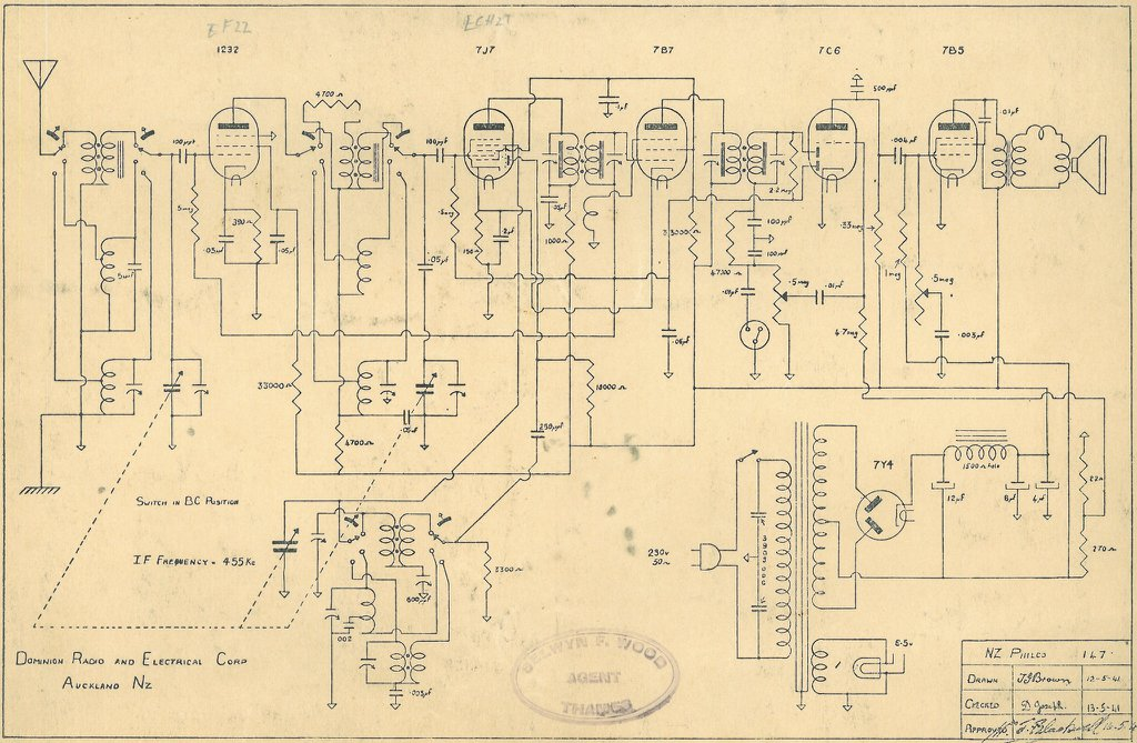 Philco NZ Model 147 Schematic