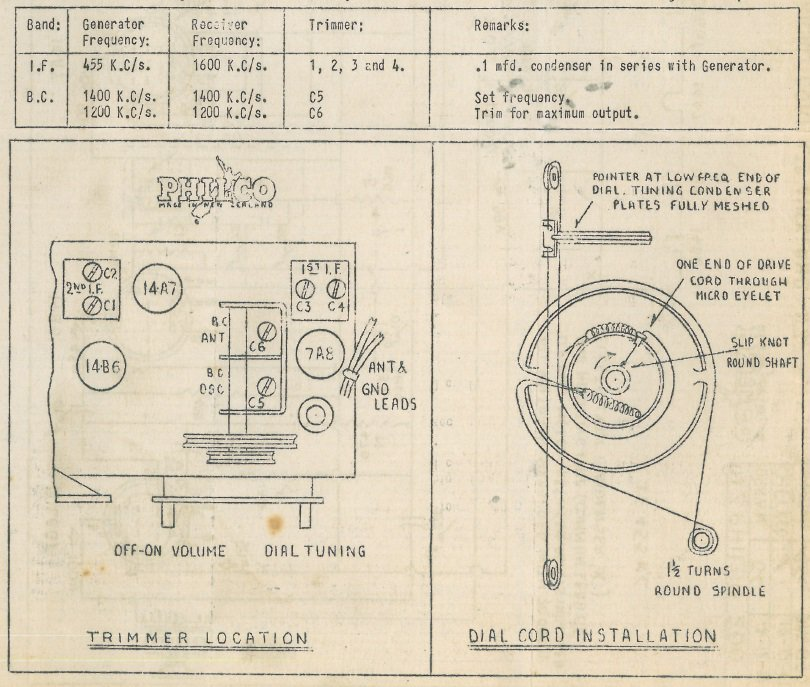 1948 Philco model 200 Chassis Information