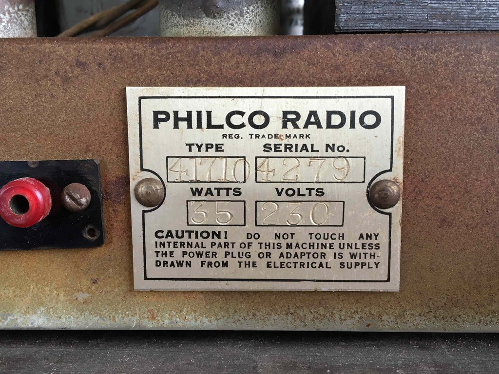 NZ Vintage Radio - Philco 41-710