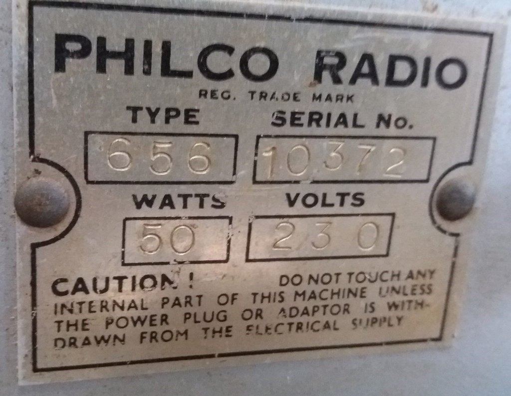 NZ Vintage Radio - 1946 Philco model 656