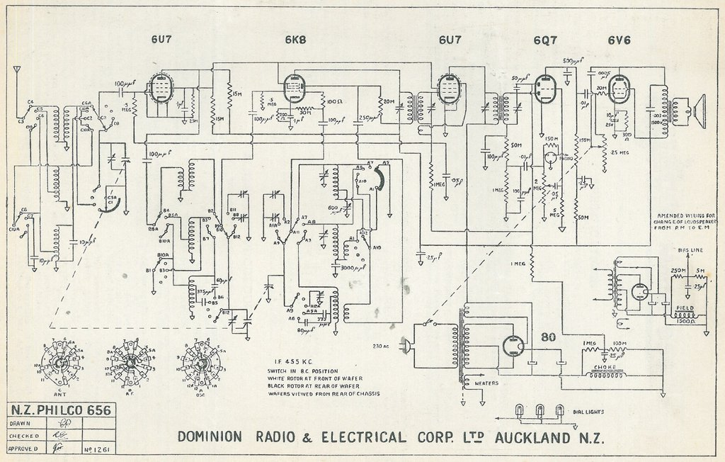 Philco NZ Model 656 Schematic