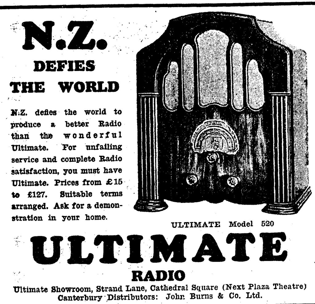 NZ Vintage Radio - 1932 Ultimate model 520