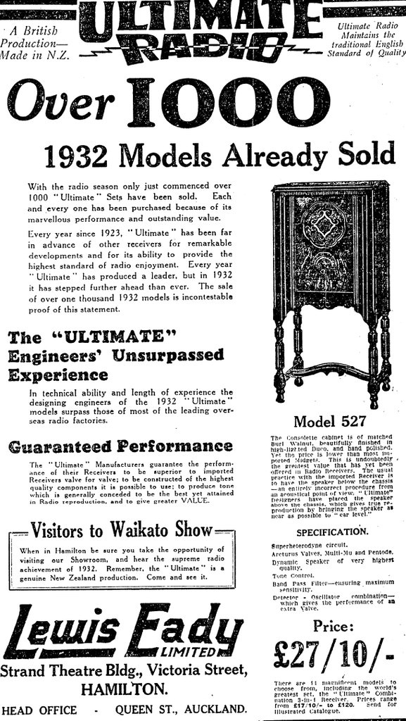 1932 Ultimate Radio - Over 1000 sets sold!