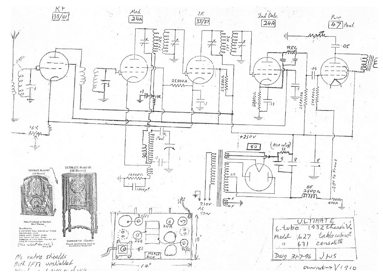 1932 Ultimate 6-valve series V chassis schematic