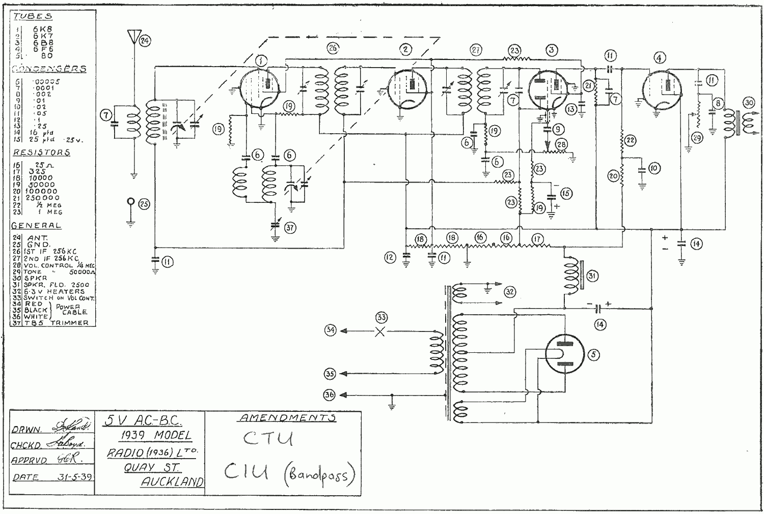1939 Ultimate CIU and CTU Schematic