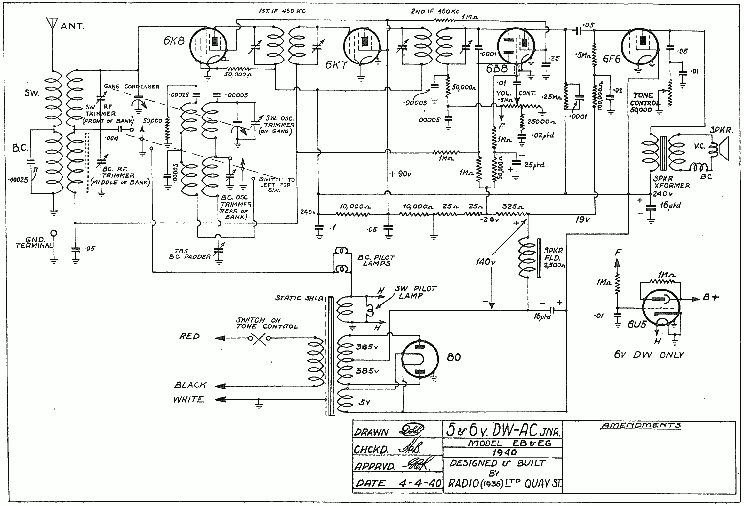 1940 Ultimate EB Schematic
