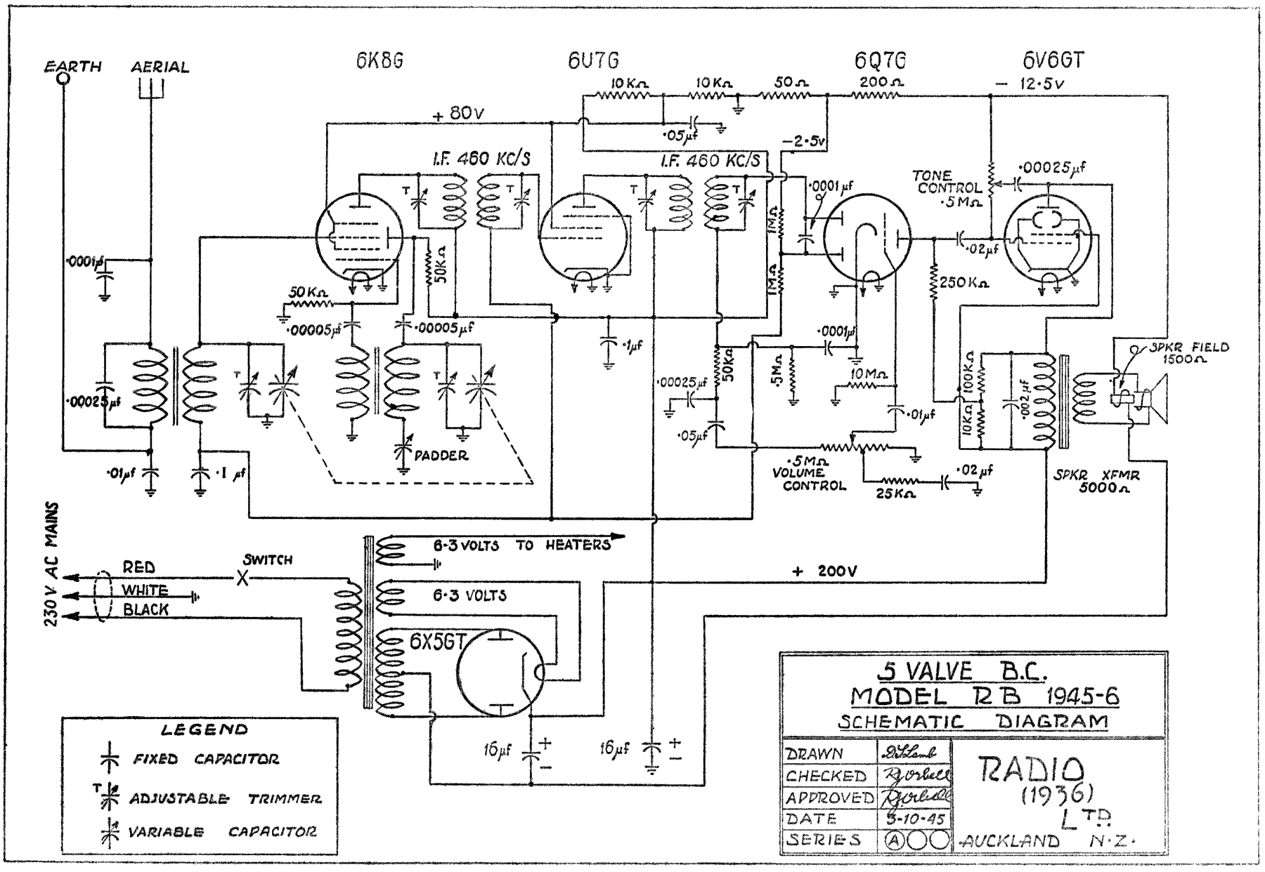 1945 Ultimate RB Schematic